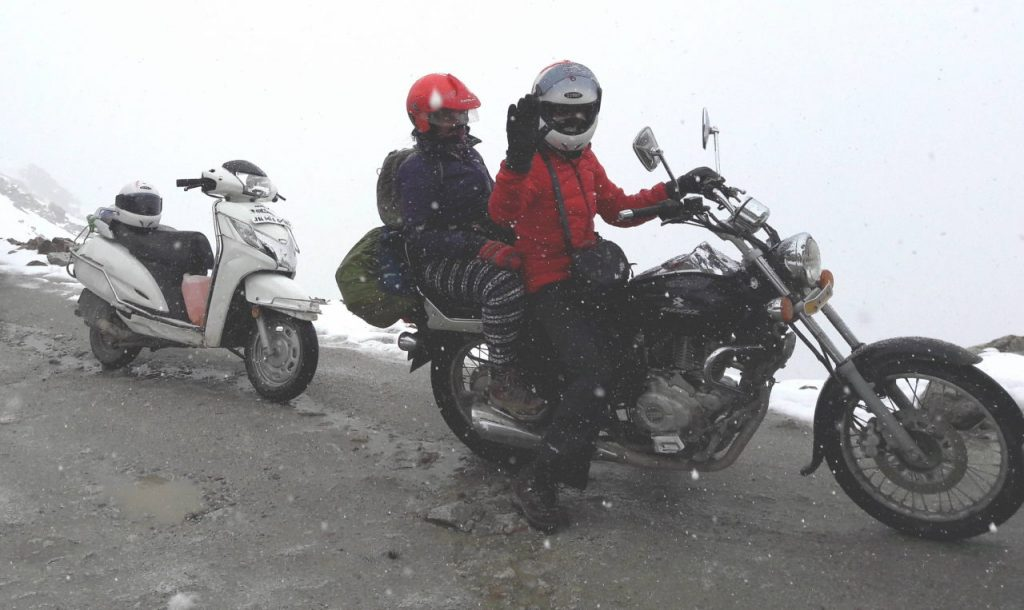 A motorbike can be taken to difficult roads or even trails. They give you the deepest coverage of India --- but at the cost of wear and tear to your body.