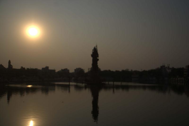 Sunset time near Sur Sagar lake.