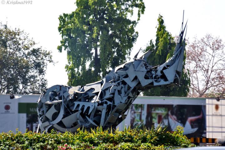 Rhino or Genda (word for rhino in Gujarati) circle.