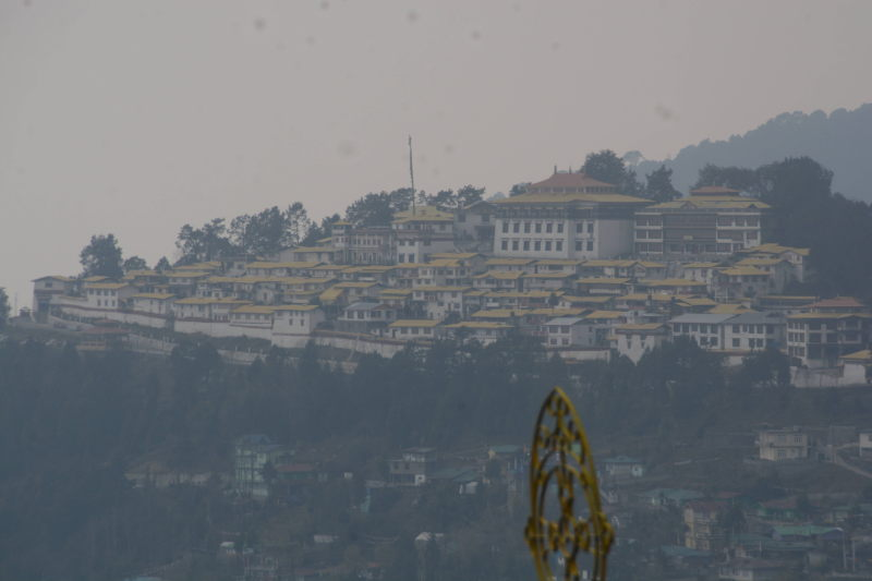 Tawang monastery as seen from outside Tawang town