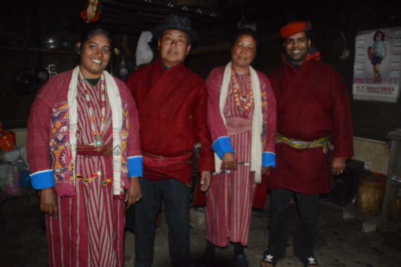Priya and I dressed up as Monpas at the home of our hosts in Tawang.