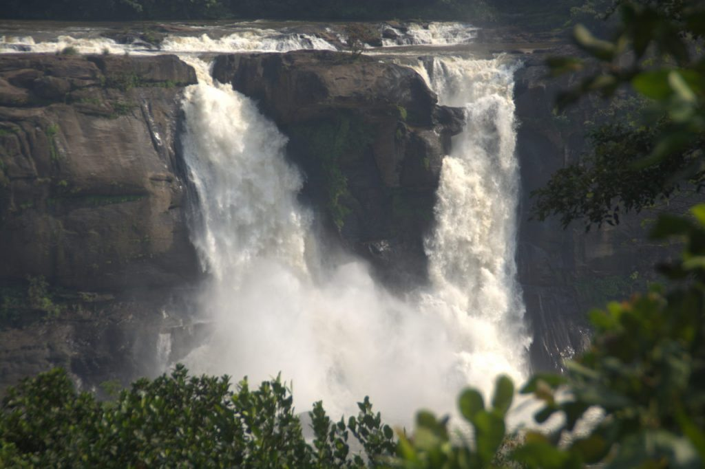 The massive Athirapalli waterfall.