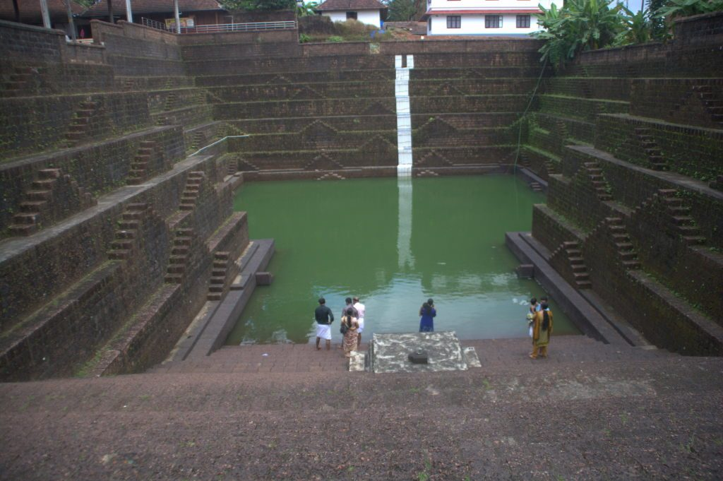 The stepwell at Peralassery temple