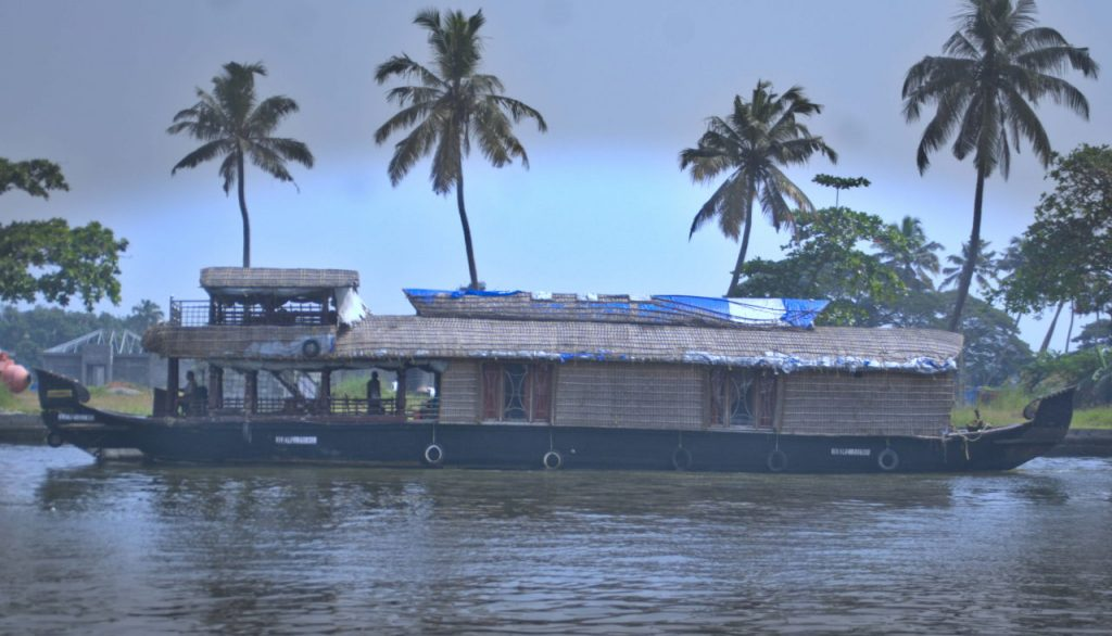 Houseboat at Alappuzha backwaters.