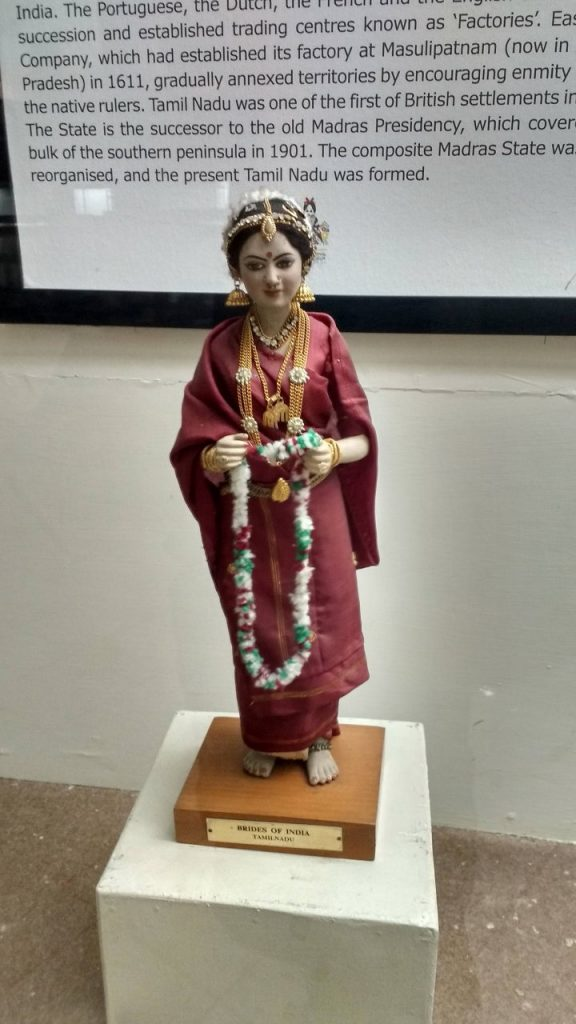 A doll representing a Tamil bride at International Doll Museum, Chandigarh.