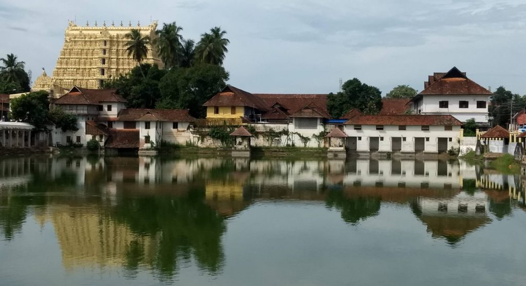 Padmanabhaswamy temple at Thiruvananthapuram.