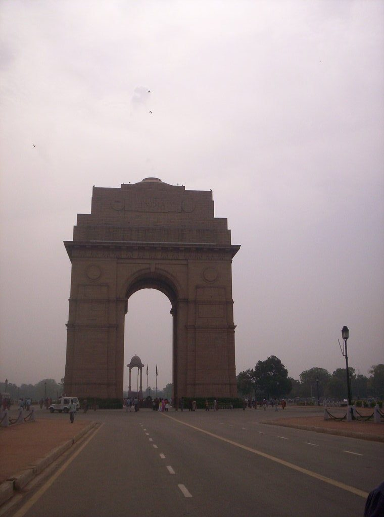 Under the India Gate in New Delhi is also a memorial for Mahatma Gandhi displaying the words 'Hey Ram', the last words from his lips.
