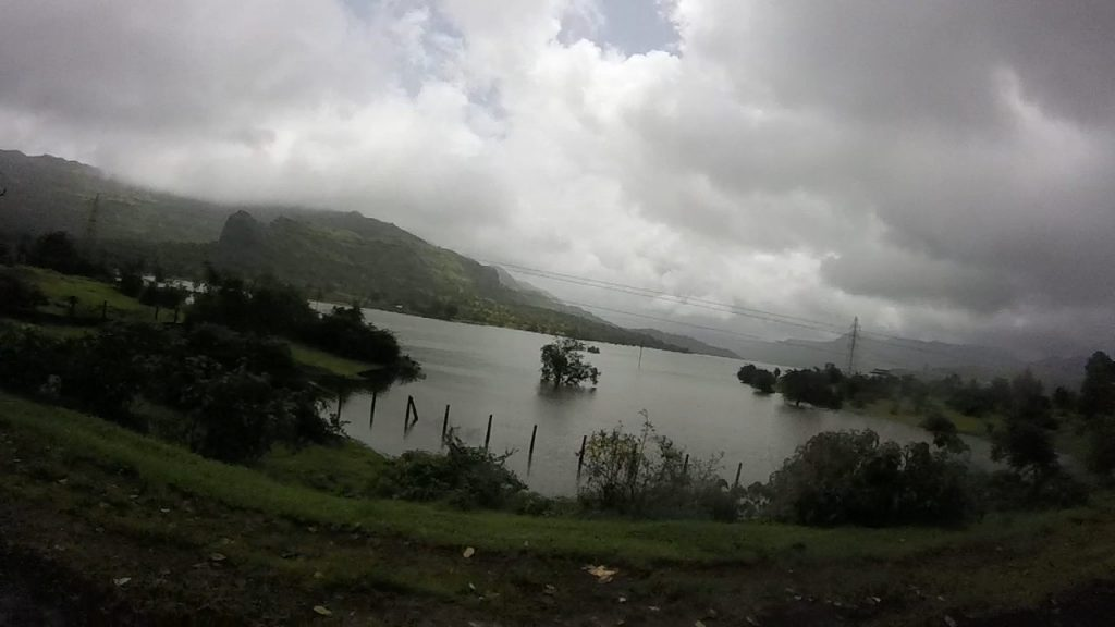 View of Mulshi lake from Tamhini Ghat.