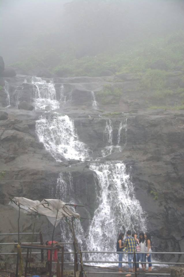 One of the several road-side waterfalls at Malshej Ghat.