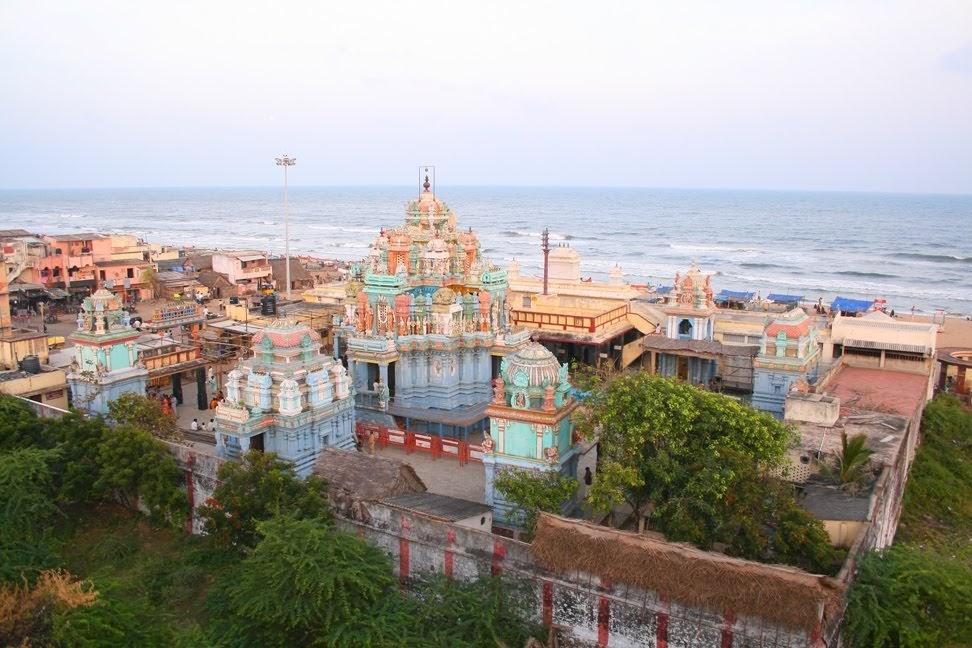 Ashtalaxmi temple and Besant Nagar beach, Chennai