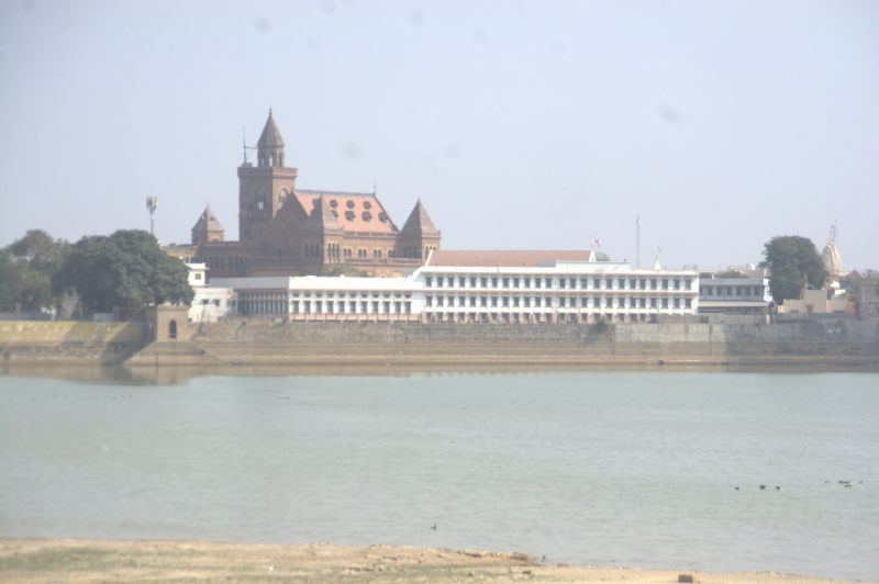 Harmirsar lake and Bhuj city
