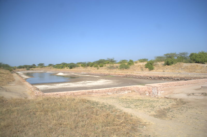 Ancient shipping dock at Lothal Harappan village