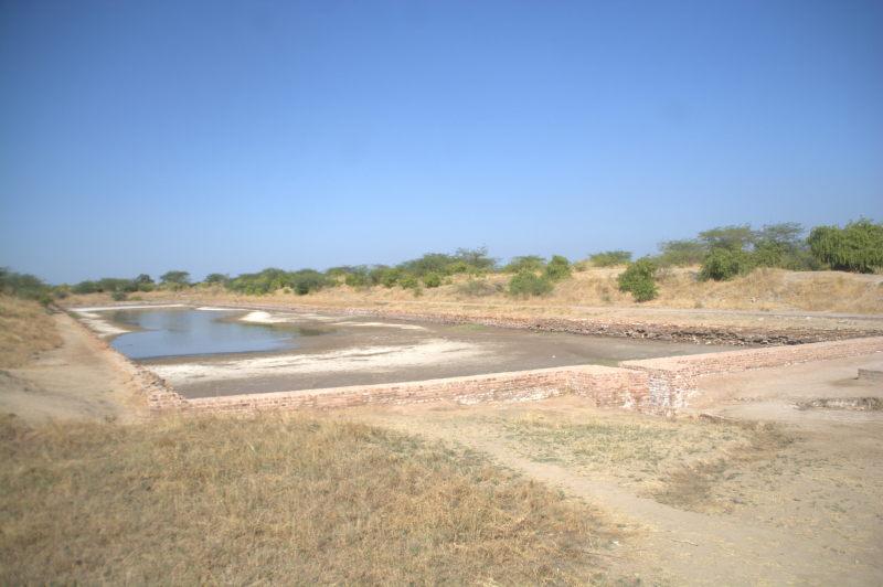 Ancient shipping dock at Lothal Harappan village