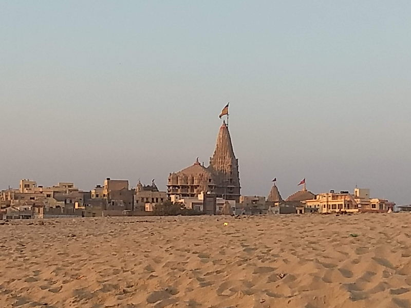Dwarkadheesh Krishna temple at Dwarka beach
